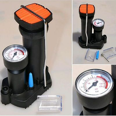 New Foot Activated Floor Bicycle Bike Pump with Air Pressure Gauge For Cycling