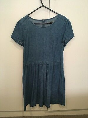 Oasis Denim Fit And Flare Skater Dress Size 10