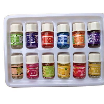 Essential Oil Set -12 Pack -100% Pure Natural Therapeutic Grade Oils 3 ml Gifts