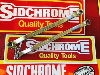 Vintage Sidchrome 6 Point Spanners Metric & AF Australia Made Tools