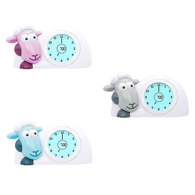 ZAZU SAM Sleep Trainer .PINK, BLUE, GREY Sleep Trainer, Night Light, Alarm !