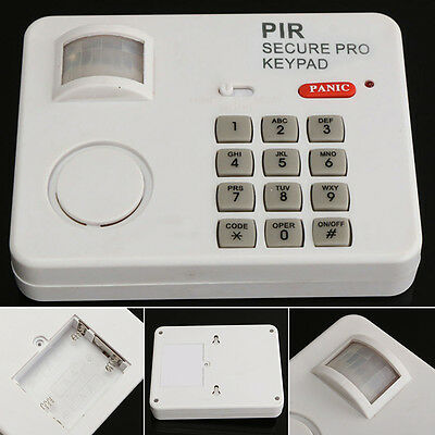 Wireless PIR Motion Sensor Alarm with Security Keypad for Home Door Garage Shed