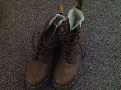 Dr Martens Brown Boots 8 Eye Size AU 5/UK 3