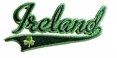 Ireland & Shamrock - Embroidered Irish Patch Badge - Iron-on or Sew