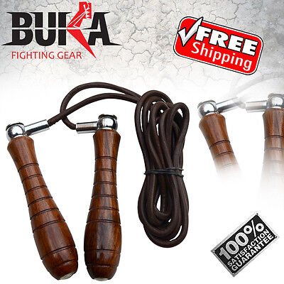 BUKA Pro Leather Skipping Speed Rope Adjustable Skipping Fitness Jump Rope