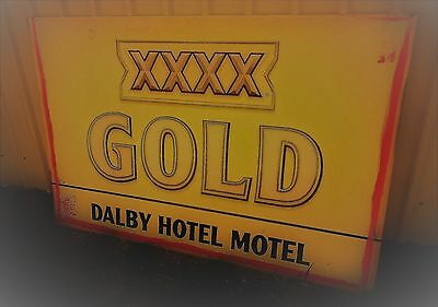 Original Large XXXX Gold Sign from Dalby Hotel Motel