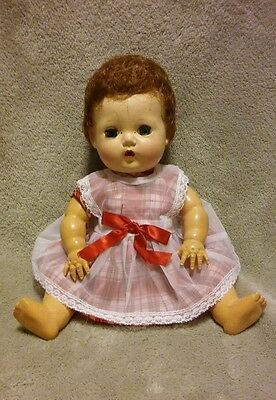 """Vintage Red & White Dress and Pinafore for 11"""" Tiny Tears Betsey Wetsy - NO Doll"""