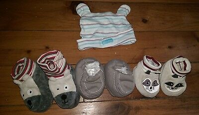 Bulk Baby Boys PUMPKIN PATCH Booties and HAT - SYDNEY