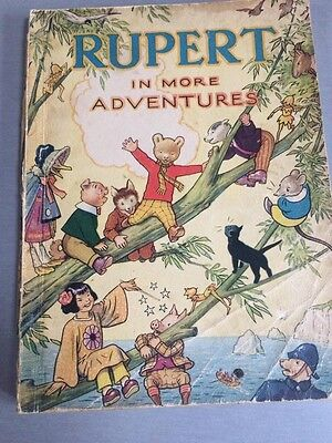 Rare  1944 Rupert Bear Annual, War Economy, Price Unclipped 3/6