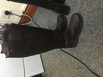 New Mark Todd Milestone Tall Leather Boots Brown Size 5