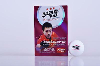 6pc 3 stars new material poly 40+  ITTF Approved DHS table tennis ball original