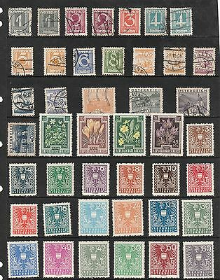 AUSTRIA  Stamp Collection circa 1940s MINT USED REF:QE418