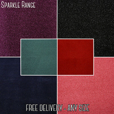 Quality Twist Pile Carpet. 6 Colours NEW! Sparkle Purple Navy Sparkle -CLEARANCE