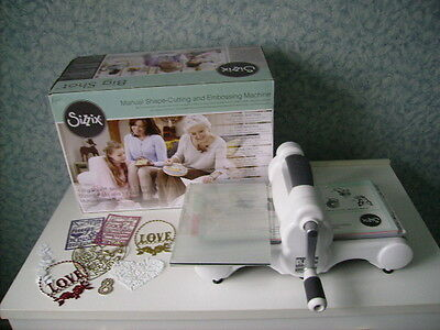Immaculate Sizzix Big Shot Die Cutting and Embossing Machine White and Grey