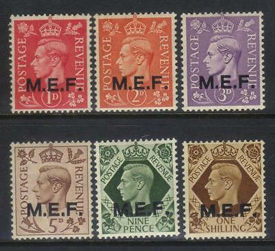 Middle East Forces 1943-1947 Optd 6 M/m Values Cat £10+