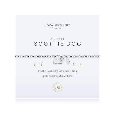 A Little Scottie Dog Bracelet - Silver Plated Joma Jewellery Gift for Her