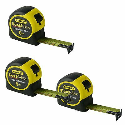 (Set Of 3) Stanley Fatmax Blade Armor 8M Metric Only Measuring Tape 33-728