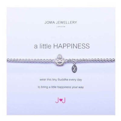 A Little Happiness Buddha Bracelet - Silver Plated Joma Jewellery Gift for Her