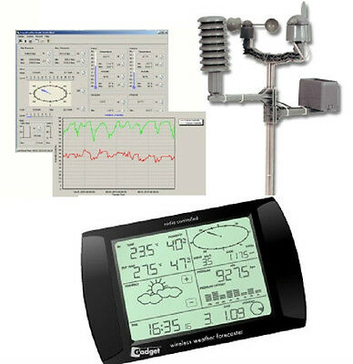 Black Wireless Pro Weather Station with USB PC Interface & Software