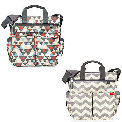 SKip Hop Duo Signature  Nappy Bag Include 10 Pockets and Cushioned changing pad
