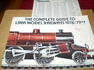 Lima Model Railways Toy Catalogue 1978/79 Uk Edition+P/list Excellent For Age