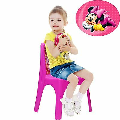 Disney Minnie Mouse Children's Girls Pink Plastic Playroom Bedroom Nursery Chair