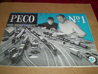 PECO MODEL RAILWAYS TOY CATALOGUE 1968 1st EDITION V GOOD FOR AGE