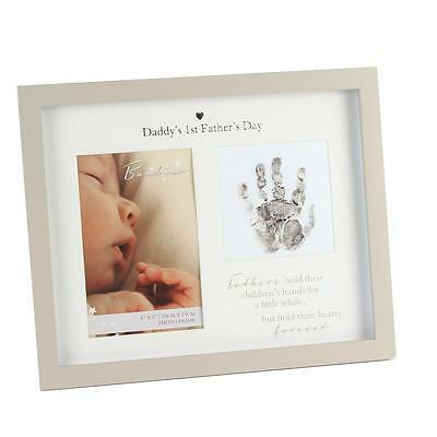 Bambino Unisex Handprint Photo Frame & Ink Pad – Daddy's 1st Father's Day