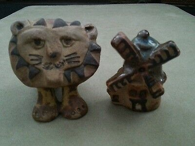 Tremar Pottery Big Lion and Windmill