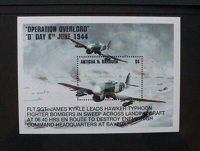 ANTIGUA 1994 Operation Overlord. Souvenir Sheet.  Mint Never Hinged. SGMS2013.