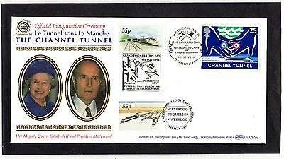Railway Letter Stamps Official Eurotunnel Inauguration Ceremony Cover