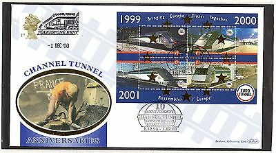 Railway Letter Stamps Eurotunnel M/S 2000 Cover