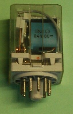 RELAY 3PCO 24Vdc COIL 10A RATING 11 pin BASE IMO 6013