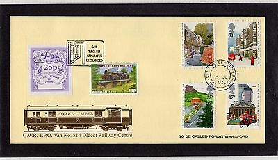 Railway Letter Stamps G.W.R. Travelling Post Office Van 814 Cover 2002