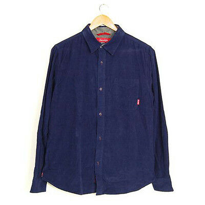 Chocolate Skateboards 20 yr Insulator L/S Cord Navy Blue XL Shirt SRP £70