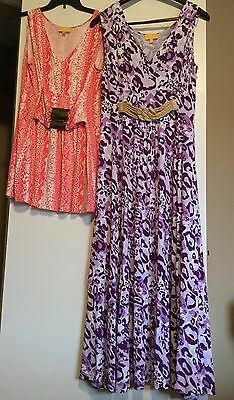 Maternity Lot Size Large: Liz Lange Sleeveless Maxi Dress And Sleeveless Blouse