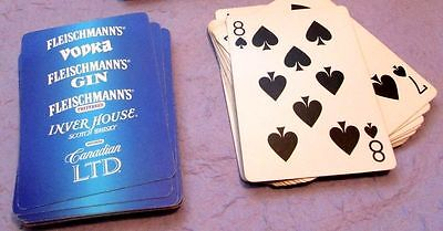 "New ! 22 Year Old Playing Cards ""fleischmann's"" Gin Vodka Scotch Canadian Sealed"