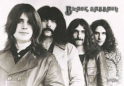 Black Sabbath Group Shot large fabric poster / flag 1100mm x 750mm (hr)