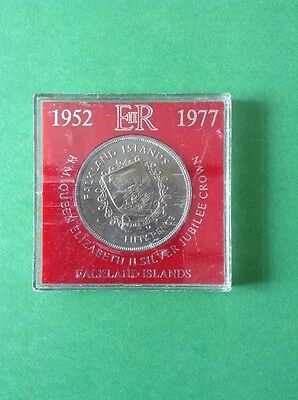 1977 Falkland Islands Fifty Pence Collectable Vintage Coin.