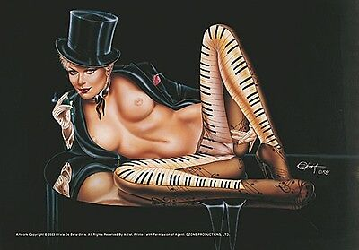 La Femme Musicale large fabric poster / flag 1100mm x 750mm (hr)