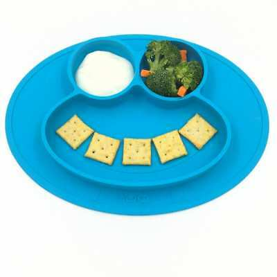 One-piece Toddlers Baby Feeding Infants Silicone placemat Child Divided Dish new