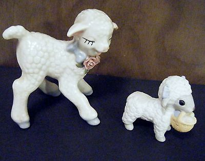 Lot Of Two Vintage  Lambs