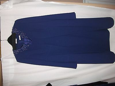 saphire blue mother of the bride coat and dress size 16