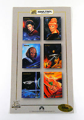 1993 Skybox Star Trek Master Series 6 Card Panel Promo Sheet Chicago Con /7500