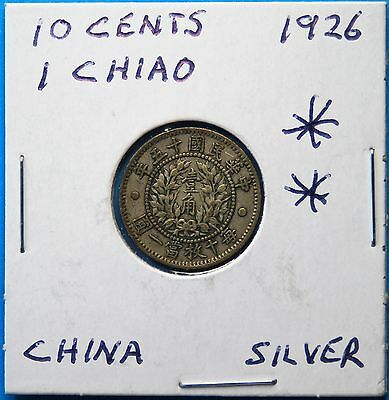 1926 10 cents 1 Chiao ??,Silver China ( More Chinese Coins at my store)