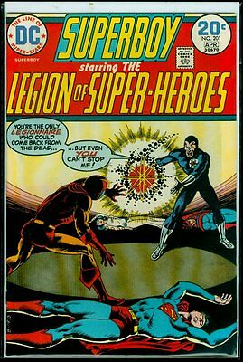 DC Comics SUPERBOY And The LEGION Of SUPER-HEROES #201 VFN- 7.5