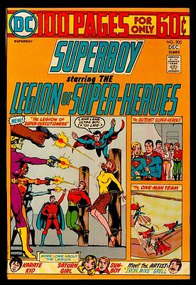 DC Comics SUPERBOY And The LEGION Of SUPER-HEROES #205 100 Pages VFN/NM 9.0