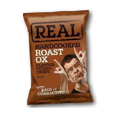 Real Crisps Roast Ox - Available in Case Sizes - 9x35g, 18x50g & 48x35g