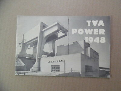 TVA POWER 1948 Booklet Brochure Tennessee Valley Authority Rural Electric Dams