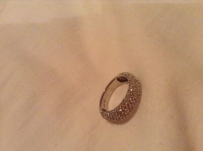 Solid Gold 14K White Gold 193 Diamond Ring Bargain Must Sell